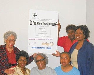 """Youngstown-Warren Black Nurses Association will have its annual scholarship brunch from 10 a.m. to 1:30 p.m. Saturday at Brentford House, 737 Myron St. SE, Hubbard. The event is titled """"Do You Know Your Numbers?"""" and focuses on blood pressure,  cholesterol and blood-glucose numbers. Speakers will be Dr. LaShale Pugh and Felicia  Alexander. There also will be a basket auction. Association members, standing from left, are Olla Tate, Sandra Abrams and Carole DuBose. Seated are Wayna Hightower, Esther McCain and Brenda Averhart. Absent from the photo is Lynn Hines, chapter president and scholarship chairwoman. The cost of admission is $20."""