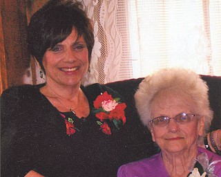 """""""We've been 'Besties' for almost 60 years,"""" says Debra Apinis about her mother, Doreen Dunn. The Salem women used to shop at Strouss, McKelveys and Livingstons in downtown Youngstown, but now settle for short trips to the mall and lunch at a favorite spot, Panera."""