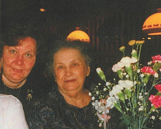 """Carole Price of Youngstown, daughter of the late Ann Babinchak, wrote a poem titled """"My Mother, My Friend"""" in honor of her mother."""