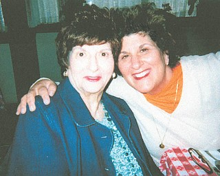 """""""A person of such devotion, gentleness and peace"""" is how Tina Bury describes her mother, Virginia Pallante. Both are from Liberty Township."""