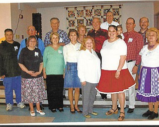 The Niles Senior Center, 14 E. State St., was recently the site of graduation festivities of the Friendly Squares western-style square-dance club of Niles. A large crowd, both dancers and guests, attended the event, and special guests were Don and Dana Stephens from California. The recent graduates are Delores Harner, Linda Yuricek, Itala Landers, Drew Six, Rachel Harner, Adeline Nelson, Brian Eucker, Larry Harner, George Yuricek, Carolyn Jones, Jerry Jones, Neil Harner (holding son Jimmy), Tony Wildman (caller) and Gene Hammond. All club events take place at the center. For information call 330-506-3370.
