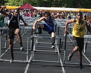 Bryan Partika of Poland fights for the finish in a tight race Thursday afternoon in Salem. - Nick Mays l The Vindicator