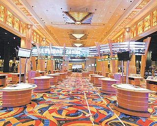 The interior of the Hollywood Casino in Toledo features a glitzy motif. The casino is scheduled to open late this month.