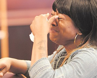 Sierra Smith, a cousin of Tracee Banks', shows her emotions as she talks about how Banks' death has affected