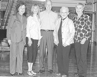 The Butler Institute of American Art, 524 Wick Ave., Youngstown, recently honored seven individuals for their years of service as volunteer docents at the museum. Giving tours for the past 20 years are, from left, Betty Joyce, Suzyn Schwebel Epstein, Richard Lander, Elizabeth Cole-Clark and Mary Ellen Fink. Absent from the picture are Janet Garchar and Beverly Gibson. Anyone interested in volunteering as a docent can call the art institute at 330-743-1107, ext. 114. Photo by Nick Mays | The Vindicator