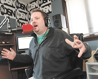 After spending 10 years at WDJQ-FM in Canton, Patrick DeLuca now broadcasts from his Alliance home on The DeLuca Show Network, an online radio station that he and former WDJQ co-host Charlotte DiFranco started in February.
