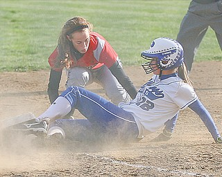 The Poland softball team is making its third straight trip to state — its fourth in school history. The Bulldogs lead-off batter Marissa Trevis (12), above, has a .475 batting average and is hitting .593 with runners in scoring position.