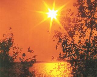 Lana Vanauker of Canfield took this photo of the sun over Berlin Lake.