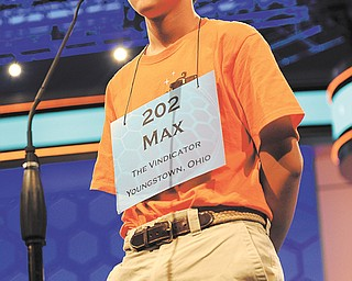 Max Lee of Canfield competes in the Scripps National Spelling Bee.
