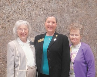 Three members of the Warren-Trumbull County American Association of University Women recently attended the AAUW Ohio state convention in Findlay, Ohio. From left are Martha Ellers; Isabel Seavey, president of the local branch; and Jean Waris. During the convention, Seavey was elected to the position of membership vice president for Ohio, the first time in more than 20 years that a member of the local branch has been elected to a state offic