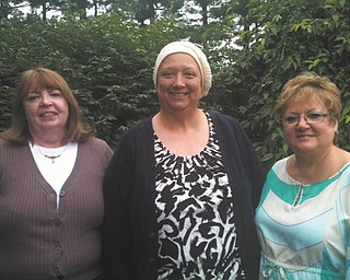 The annual Pink Ribbon Golf Classic is scheduled for July 16 at Tippecanoe Country Club, 5870 Tippecanoe Road, Canfield. From left to right are Cheryl Miskell, committee  chairwoman; Cynthia Zapata, event honoree; and Pam Planey, committee member. All proceeds from the outing go directly to the American Cancer Society. The cost to  participate is $99 per person for the 18-hole scramble. Registration will begin at  8:30 a.m., and a shotgun start will kick off play at 9:30. Lunch is included, and there will  be a basket auction and raffle. For details call Donna Mowrey at 330-207-9630 or Nancy Felton at 330-533-2712.