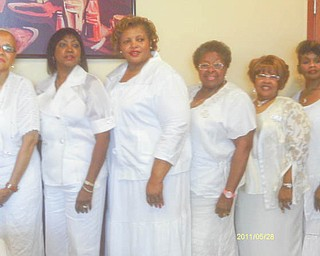 Six members of the Youngstown Chapter of The Links, Inc., were recently installed as officers for the 2012-2014 club year. From left are Virginia Banks-Bright, treasurer; Margaret Staples, financial secretary; Wanda Smith, corresponding secretary; Alnita Bryant-Russell, recording secretary; Janice L. Beachum, vice president (second term); and Krishmu Shipmon, president (second term).