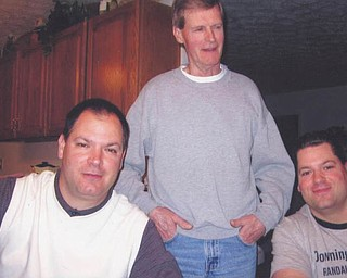 Here are Joseph Herubin, center, with his sons Joey, left, and Mark Herubin, who now have sons of their own. Photo submitted by Bella Herubin.