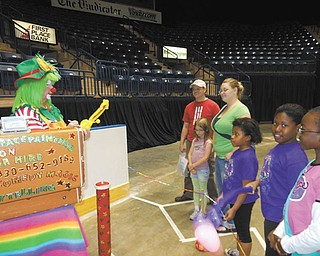 A clown was among the entertainment recently at Family Fun Day for the Youngstown Girl Scouts. The event, which took place at the Covelli Centre, also featured face painting, crafts and a bounce-around for the kids.
