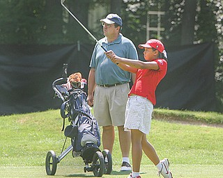 Youngstown's Jacinta Pikunas, shown here competing at last year's Greatest Junior Golfer tournament, was one of two area golfers to earn expense-paid trips to the International Junior Golf Championships.