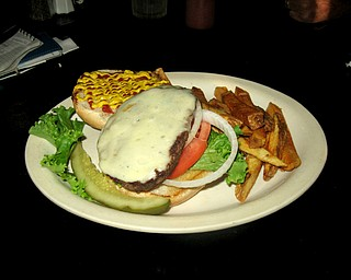 Sirloin burger from Mason's Steak House & Lounge.