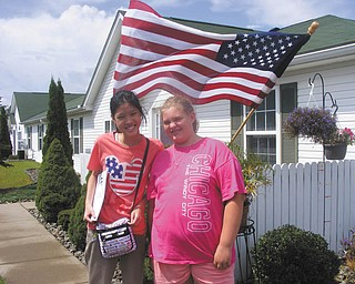 Terri Windsor of Poland sent in this photo of Pie Areepipatkul of Bangkok, Thailand, an AFS foreign exchange student, and Kayla Windsor of Poland, who became good friends with Pie.