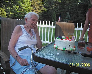 """Here's a story by a reader named Sharon about a July 4th birthday: """"My mom lived in Baltimore and came to visit my husband and I for her 80th birthday with my sister. She was born July 4, 1926 and passed away in 2009. I think she was surprised [in this photo]."""""""
