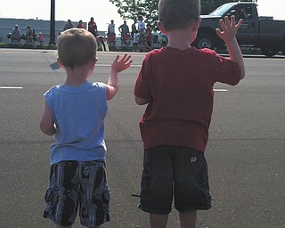 Kathleen Lindow sent in this photo of Jackson and Tucker Lindow enjoying the Fourth of July parade.