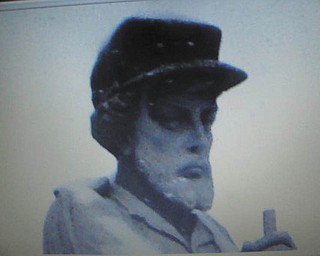 A photo of the face of the war veteran statue in downtown Youngstown by Jim Williams of Lowellville.