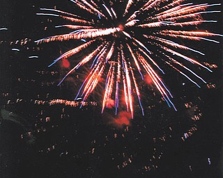 Lana Vanauker of Canfield sent in this photo she took of the fireworks at the St. Charles Festival this year.