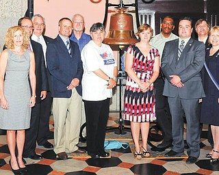 June 18 marked the 200th anniversary of the start of The War of 1812. To recognize the day, Ohio War of 1812 Bicentennial Commission members met at the Ohio Statehouse in Columbus for a commemorative ceremony. Columbiana County recorder Craig Brown, second from right, front, is pictured with other commission members.