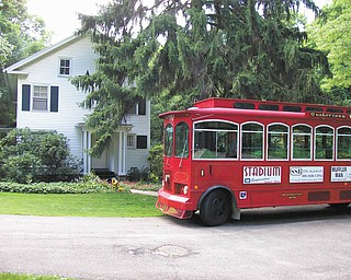 The Salem Historical Society will host Underground Railroad tours using the Quakertown Trolley, above at the home of Joel McMillan, which is one of the stops on the tour. The next tours are July 15, Aug. 10 and 11, Sept. 22 and 30, and Oct. 13 and 27. The cost is $10 per person, and reservations are required. Call 330-337-3035. The tours will start at the Salem Historical Society, 208 South Broadway Ave., and Jeanne Martinelli will discuss Salem's anti-slavery movement. Dressed as a Salem Quaker, Martinelli will talk about life in 1856 and show more than 100 slides of abolitionists and Salem homes that were on the Underground Railroad. Those attending will gain a better understanding of the plight of slaves, the Underground Railroad and the abolitionist movement that flourished in Salem before the Civil War.