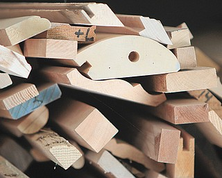 Pieces of wood for moldings, etc., are ready for use.