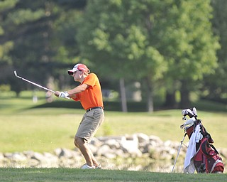 Nathan Garofalo, Columbiana, chips onto No. 18 and his way to a 90. He was playing in the 2012 Greatest Golfer of the Valley junior finals Saturday at Trumbull Country Club. Adult finals are Aug. 24, 25 & 26.