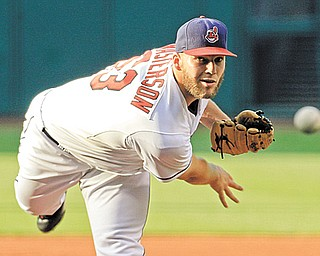 Cleveland ace Justin Masterson pitched 7 1⁄3 strong innings to help the Indians beat the Baltimore Orioles, 3-1, on Monday in Cleveland.