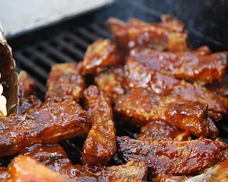 One of the many varieties of ribs featured at the fourth annual Rib Festival at Mastropietro Winery in Berlin Center, Ohio on July 21, 2012. This particular kind was created by Mark DiRienzo.