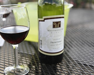 One of the many wines offered during the ribs festival at the Mastropietro Winery in Berlin Center, Ohio.