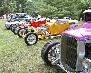 "A ""Thunder in the Park"" car show was held in McDonald, Ohio on July 29, 2012."