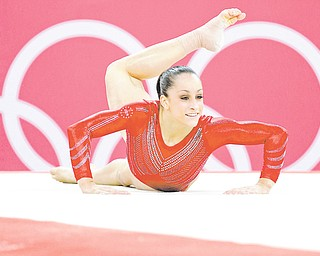 U.S. gymnast Jordyn Wieber performs on the floor during the Artistic Gymnastics women's team final Tuesday.