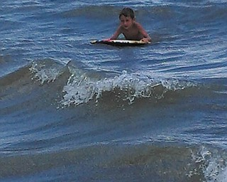 Landon Schneider, 5, of Poland, rides the waves on Hilton Head Island. Photo submitted by Suzanne Verzilli.