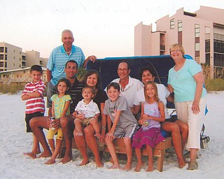 Here's the whole family together spending time in Siesta Keys, Fla. Included are grandparents Paul and Vicki Laczo of Poland; their daughter and son-in-law, Lori and John Macko and their children, Evan and Madison, all of Rochester, N.Y.; and their son and daughter-in-law, P.J. and Amy Laczo and their children, Paulie, Anna and William, all of Cuyahoga Falls.