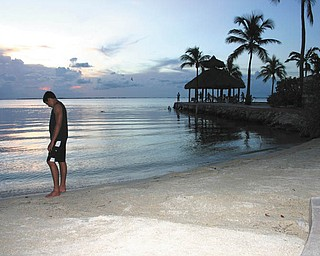 Anthony Pannunzio takes in the sunset in Key Largo, Fla.