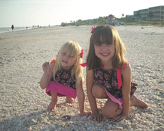 Sisters Camryn and Marissa find shells on Sanibel Island in Florida. Photo sent in by Kelly Alexander.
