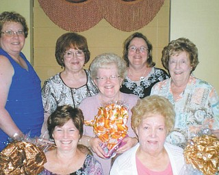 The Network Council of ABWA is planning its annual fall fashion show. Members of the council are, in front, Sharon Pasquale, left, and Sara Janutolo of Tri Gold Chapter; in the middle is Judy Codespote of Mill Creek Chapter; and in the back row, from left, are Mary Brown of Mill Creek, Donna Farmer of Tri Gold, and Cathy Pokrivnak and Mary Ann Rushton, both of the Youngstown Charter Chapter.