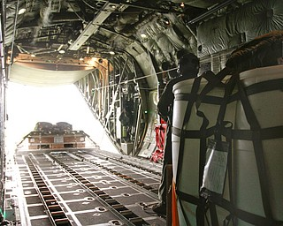 ROBERT K. YOSAY  | THE VINDICATOR..payloadexits the back of the C130 H  to a location in the Ravenna Arsenal - .-30-
