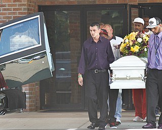 Bryce Linebaugh's funeral, Friday, Aug. 24, 2012, in Leavittsburg.