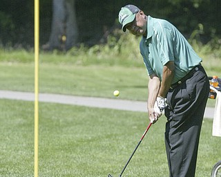 William d Lewis the vindicator James Hovell makes a chip shot  Friday at Mill Creek.