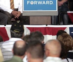 ROBERT  K.  YOSAY  | THE VINDICATOR --..Vice President Joe Biden made several stops in the area on Friday as he stopped in the  UAW  1714  Mocha House and the Canfield Fair...(AP Photo/The Vindicator, Robert K. Yosay)
