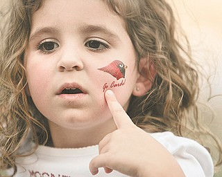 A young Mooney fan shows her Cardinal pride