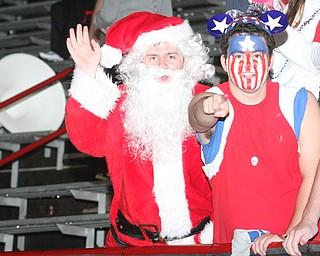 Santa visits the Mooney faithful