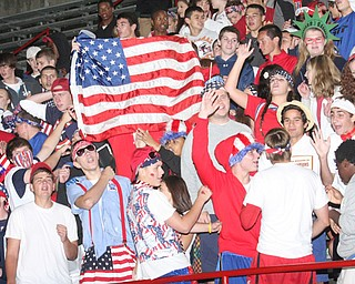 Cardinal Mooney Red White and Blue theme