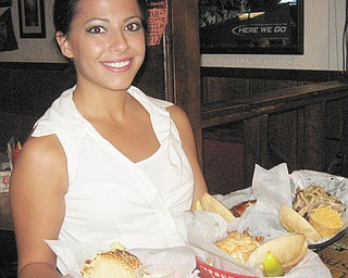 Waitress Jordan Krawchyk made the evening at Crickets enjoyable.