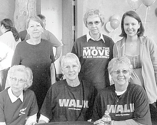 Members of the Householder family at the 2011 Walk in Boardman are, seated from left, Nanetta Householder, Rebecca Miller and Mabel Lawrence, and standing are Mary Trimmer, Sara Welch and Julieanna Miller.