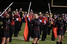 IMG 3483: The Struthers High School marching band performs during halftime of Friday nights football game between Hubbard and Struthers at Hubbard High School.ÊDustin Livesay Ê| ÊThe Vindicator Ê9/21/12 ÊHubbard, Ohio