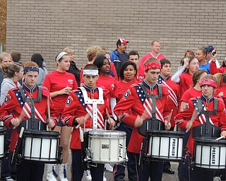 Fitch and Boardman drum lines battle back and forth at the Blitz before the game